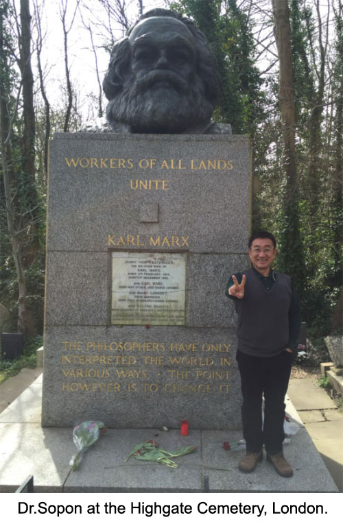 Dr.Sopon at the Highgate Cemetery, London.